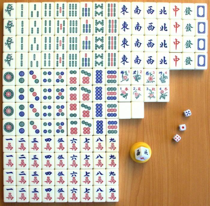 Zestaw kamieni do chińskiego Mahjonga