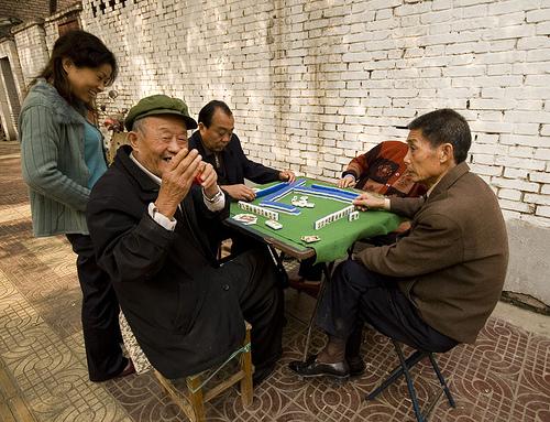 Sympatyczni gracze mahjonga