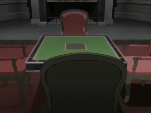 Stół do Washizu Mahjong w anime Akagi.